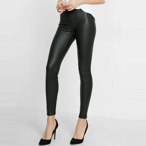 Like new! Express (minus the) Leather Leggings